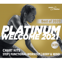 Platinum Welcome 2021 - Best of 2020 Step/Workout/Cooldown - 3 CD Box